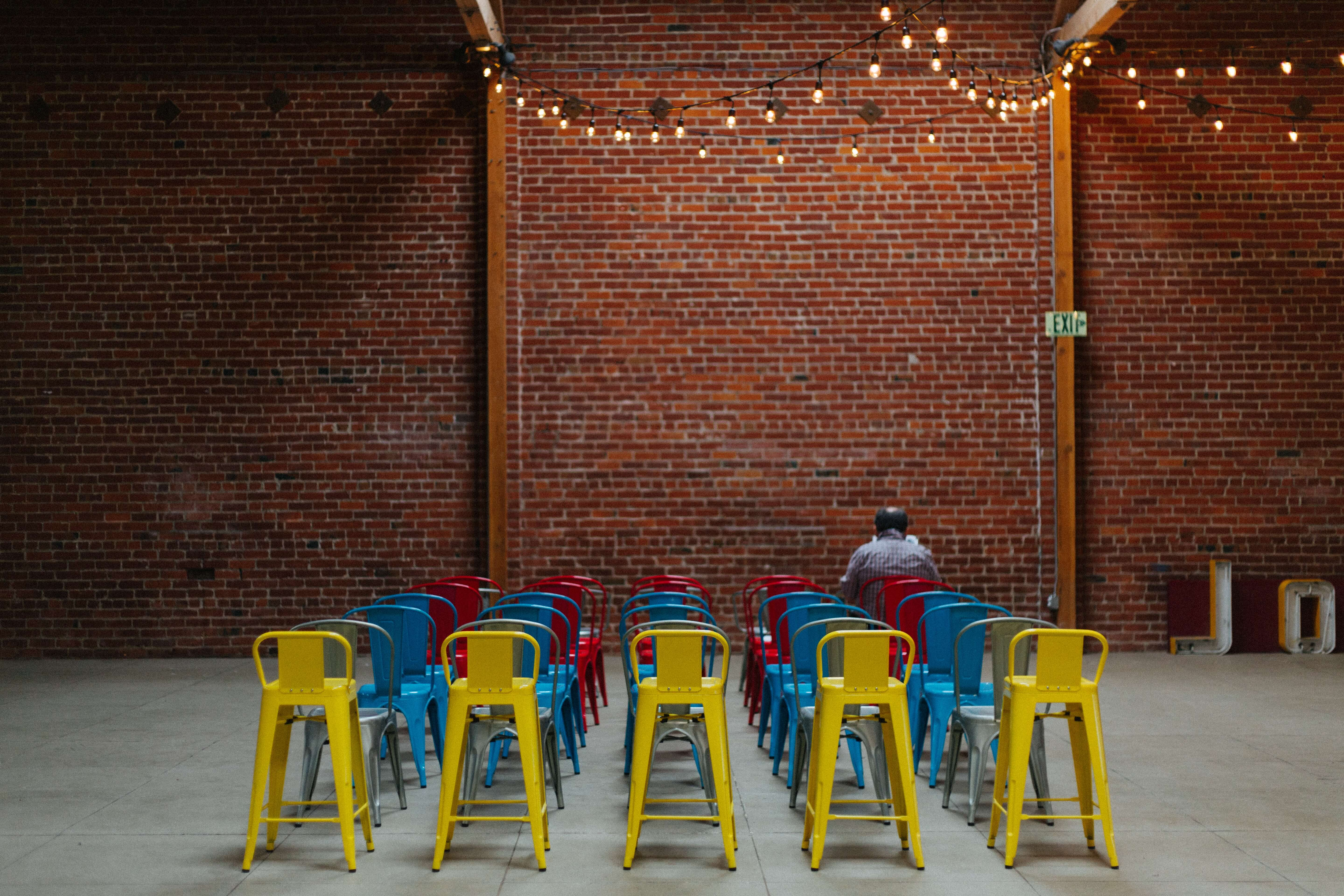 What is B2B lead generation? - man alone on a chair
